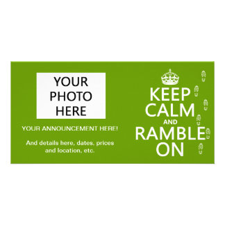 Keep Calm and Ramble On Card