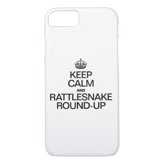 KEEP CALM AND RATTLESNAKE ROUND UP iPhone 7 CASE