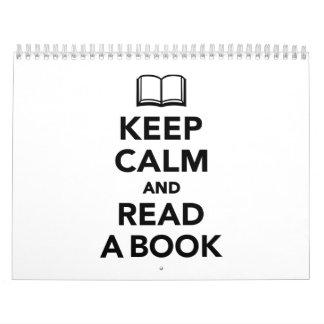 Keep calm and read a book calendar