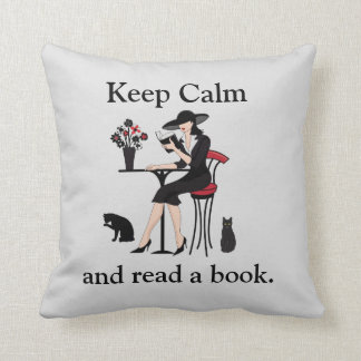 Keep Calm and Read a Book Pillow