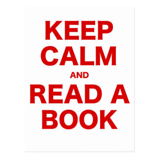 Keep Calm and Read a Book Post Cards