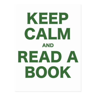 Keep Calm and Read a Book Postcards
