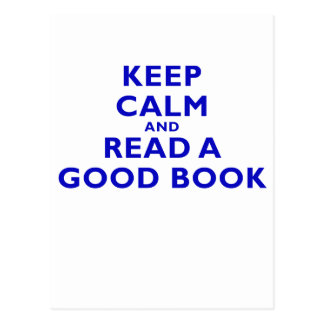 Keep Calm and Read a Good Book Post Card