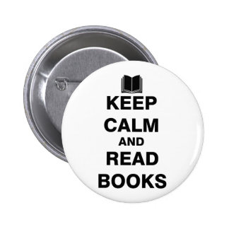 Keep Calm and Read Books Button