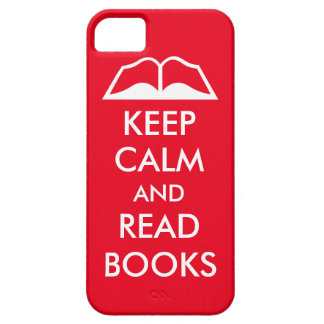 Keep calm and read books iPhone 5 covers