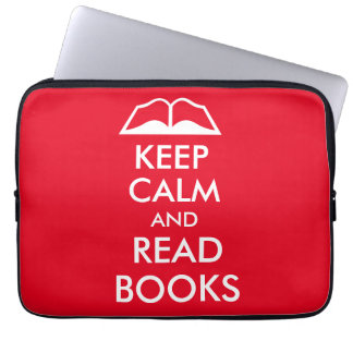 Keep calm and read books computer sleeve