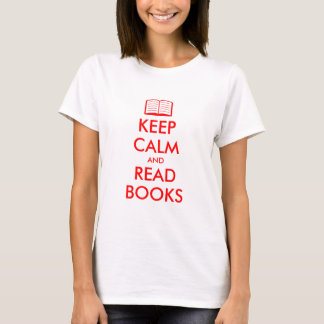 Keep calm and read books   Cute t shirt for women