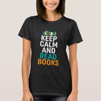Keep Calm and Read Books Geek  Nerd T-shirt