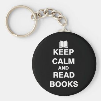 Keep Calm and Read Books Keychain