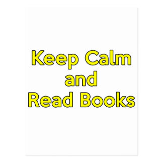 Keep Calm and Read Books Postcards