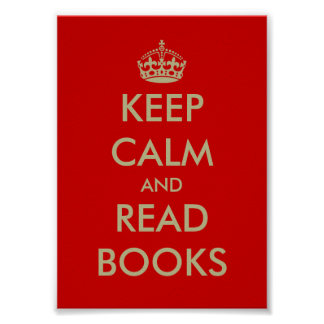 Keep calm and read books poster
