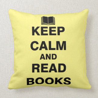 Keep Calm and Read Books Throw Pillow
