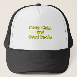 Keep Calm and Read Books Trucker Hat