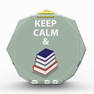 Keep Calm and Read Books vector Acrylic Award