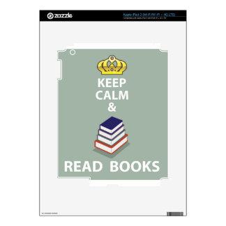 Keep Calm and Read Books vector iPad 3 Skins