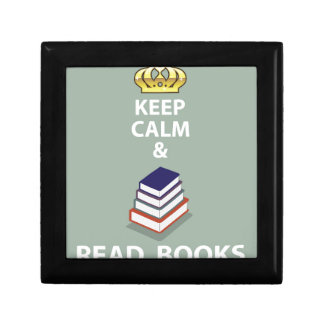 Keep Calm and Read Books vector Jewelry Box