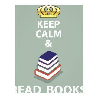 Keep Calm and Read Books vector Letterhead