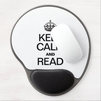 KEEP CALM AND READ GEL MOUSE PAD