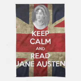 Keep Calm and Read Jane Austen Hand Towels