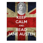 Keep Calm and Read Jane Austen Post Cards