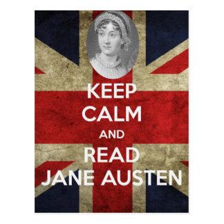 Keep Calm and Read Jane Austen Postcard