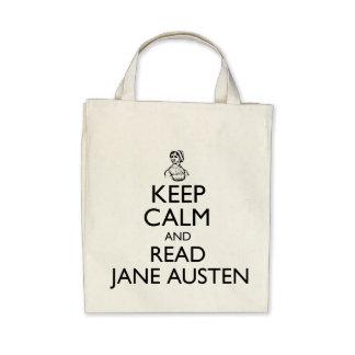 Keep Calm And Read Jane Austen Tote Bag