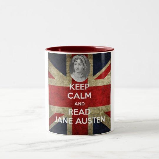 Keep Calm and Read Jane Austen Two-Tone Coffee Mug