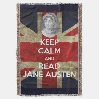 Keep Calm and Read Jane Austen with British Union Throw