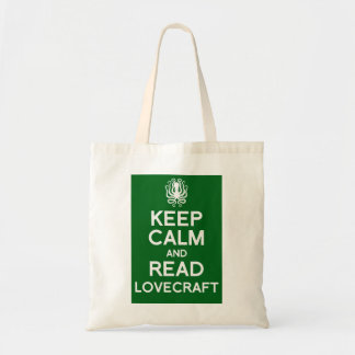Keep calm and read Lovecraft book bag