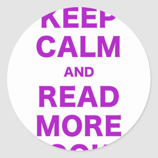 Keep Calm and Read More Books Classic Round Sticker