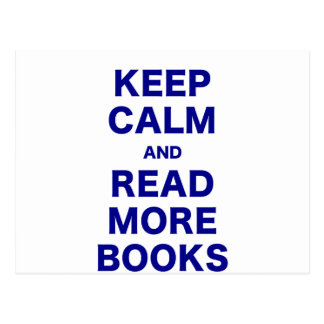 Keep Calm and Read More Books Postcard