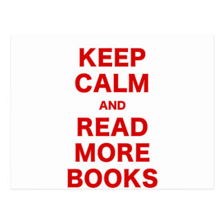 Keep Calm and Read More Books Postcards