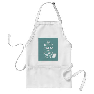 Keep Calm and Read On Adult Apron