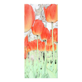 keep calm and read on, art tulip flowers bookmark rack card
