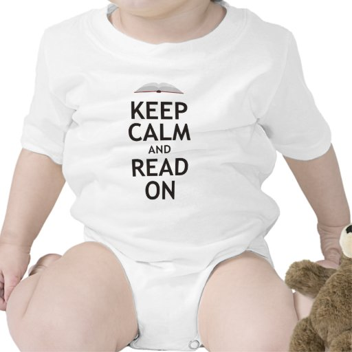 Keep Calm and Read On Baby Bodysuits