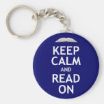 Keep Calm and Read On Basic Round Button Keychain