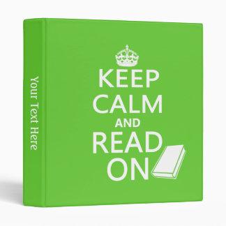 Keep Calm and Read On Vinyl Binder