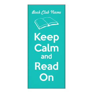 Keep Calm and Read On Book Mark Rack Card