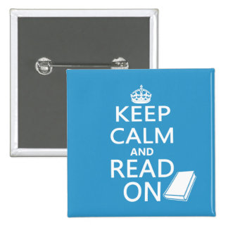 Keep Calm and Read On Button