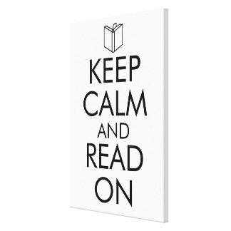 KEEP CALM AND READ ON CANVAS PRINT