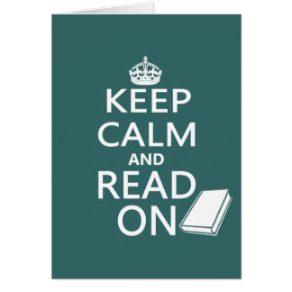 Keep Calm and Read On Cards