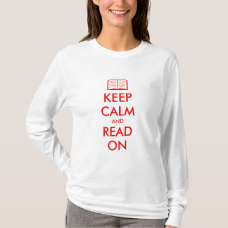 Keep calm and read on   Cute shirt for women