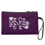 Keep Calm and Read On (in any color) Wristlet Purse