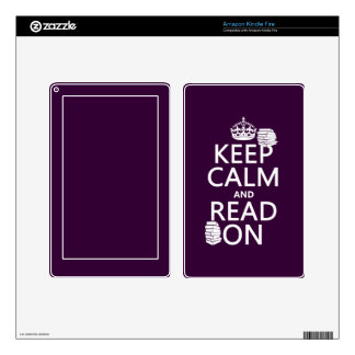 Keep Calm and Read On in any color Kindle Fire Skin