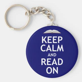 Keep Calm and Read On Keychain