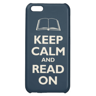 Keep Calm and Read On (navy) Cover For iPhone 5C