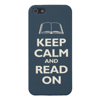 Keep Calm and Read On (navy) iPhone SE/5/5s Cover