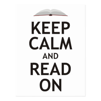 Keep Calm and Read On Post Cards