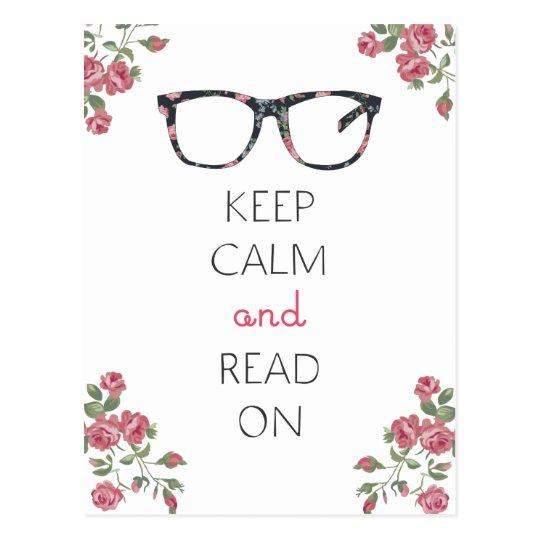 Keep Calm and Read On Postcard