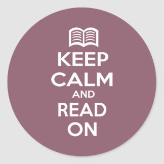 Keep Calm and Read On Stickers